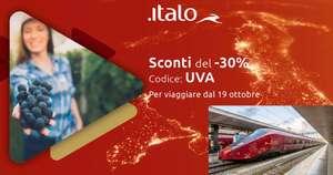 Sconto del 30% per Italo