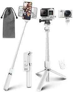 Bastone Selfie Wireless, 4 in 1 Asta Selfie Stick Bluetooth con Treppiede