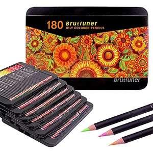 Set di 120 matite colorate a botte quadrate, perfette per libri da colorare per adulti, studenti o bambini per la scuola (120 colori)