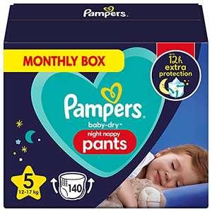 Pampers - Pannolini Da Notte, Taglia 5, 140 Pannolini, 12 Kg - 17 Kg