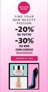 Da Marionnaud 20% su tutto e 30% alla soglia dei 69€
