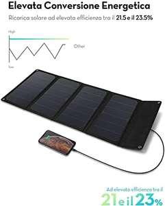 Caricabatterie Solare da 28W con Doppia Porta USB