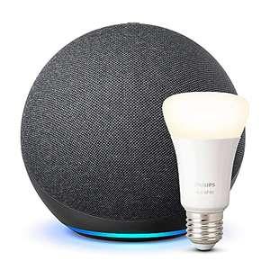 Echo (4ª generazione) + Lampadina Smart Philips Hue