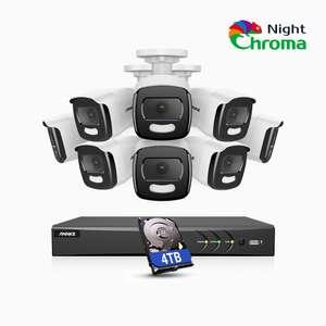NightChromaTM NAK500 - Impianto di Videosorveglianza 5MP - 8 Telecamere