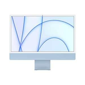 """2021 Apple iMac (24"""", Chip Apple M1 con CPU 8-core e GPU 8‑core, quattro porte, 8GB RAM, 512GB) - Azzurro"""