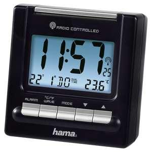 Hama RC200 Orologio da tavolo digitale Nero Rettangolare