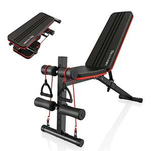 Panca per pesi regolabile, pieghevole, per esercizi con 7 posizioni