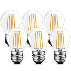 4 W E27 Vintage LED filamento G45 2700 K bianco caldo 6 pezzi
