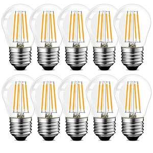 10 lampadine LED a filamento - 4 W E27 classe A+