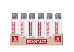 6 Flaconi da 150 ml Borotalco, Deodorante Spray Invisible