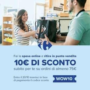 Codice sconto Carrefour 10€ spesa minima 75€