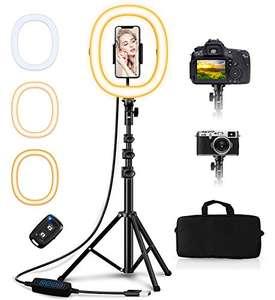 """Anello Luminoso Selfie Pieghevole 10.2"""" + Treppiedi Regolabile"""
