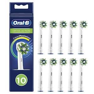Oral-B Cross Action Testine Spazzolino Elettrico, Confezione da 10 pezzi, con Tecnologia CleanMaximise,Bianco