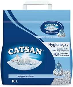 4 confezioni da 10 litri di Catsan Lettiera Hygiene, 10 Litri x 4, Non Agglomerante