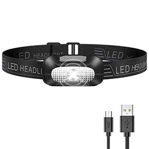 Lampada Frontale LED, Ricaricabile USB