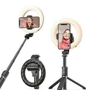 Bastone Selfie Luce ad Anello con Estensibile Treppiede con Telecomando Wireless