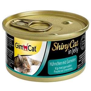 GimCat ShinyCat in gelatina pollo e gamberetto 24 Lattine (24 x 70 g)