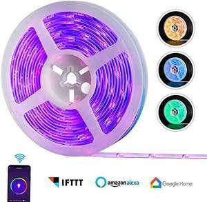 REAFOO - Striscia LED WiFi RGB Impermeabile 5m 5050 300LED