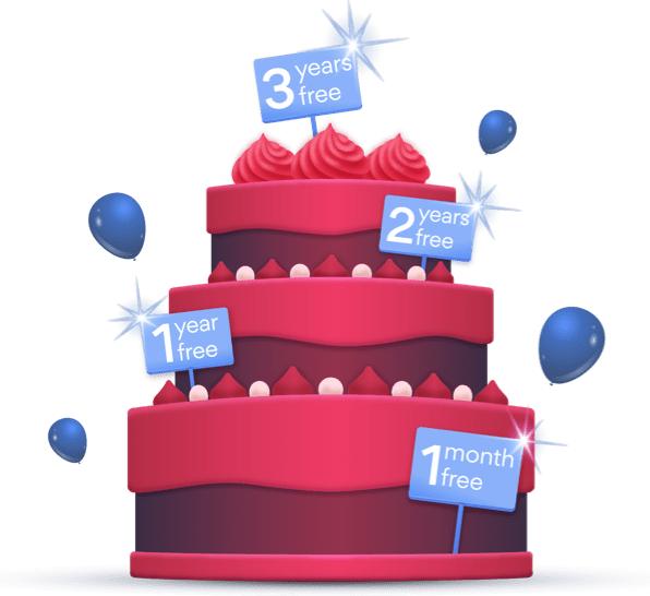 Offerta per il compleanno di NordVPN - Offerta di 3 anni con uno sconto del 70% e ricevi un piano extra gratuitamente