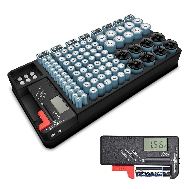 Organizzatore Batterie CON TESTER 2.3€