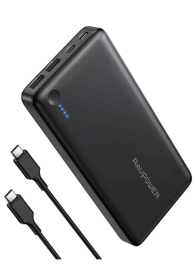 RAVPOWER USB C Powerbank 26800mAh, Caricabatterie Portatile con 30W Power Delivery, Ricarica Rapida in 4-5 Ore Include Un Cavo Type C