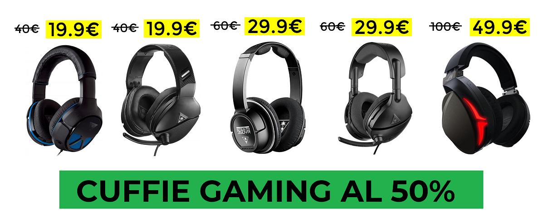 Cuffie Gaming Sconto del 50%
