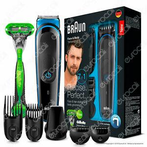 Braun MGK3042 MultiGrooming Kit 7 In 1 Rasoio Barba Elettrico + Gillette Body