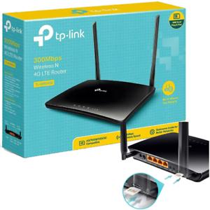 TP-Link TL-MR6400 Router WIRELESS 4G LTE, Wi-Fi N300 CON SIM SCHEDA MOBILE DATI