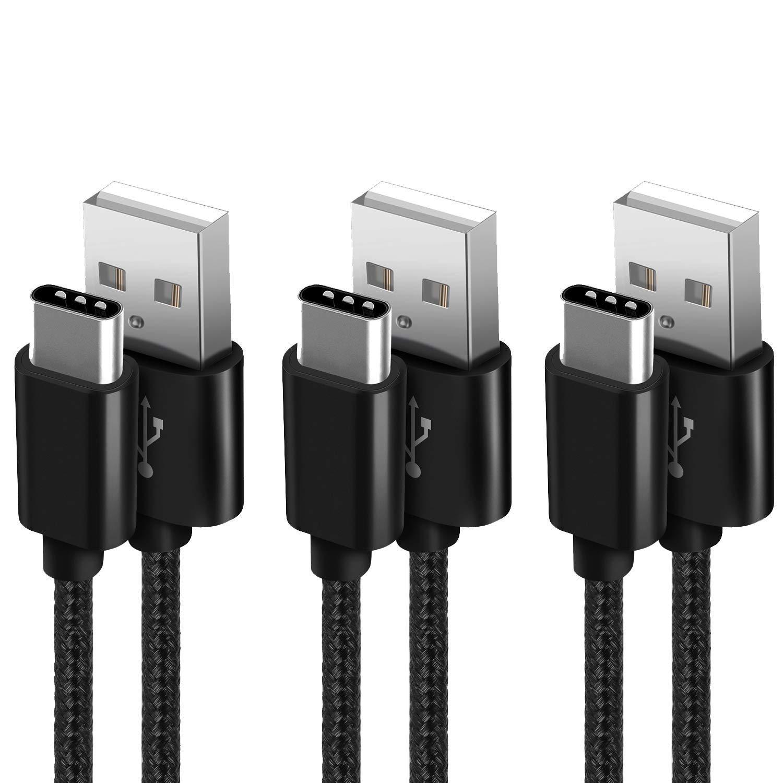 Cavo USB C [3 Pezzi,1m+2m+2m] Cavo USB Tipo C Nylon Intrecciato