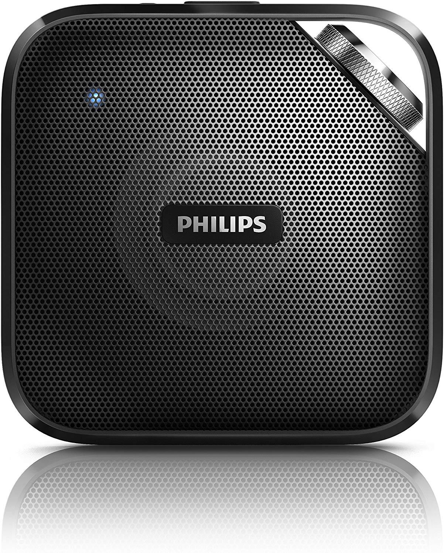 Philips BT2500B/00 Altoparlante Wireless Bluetooth Portatile, Nero