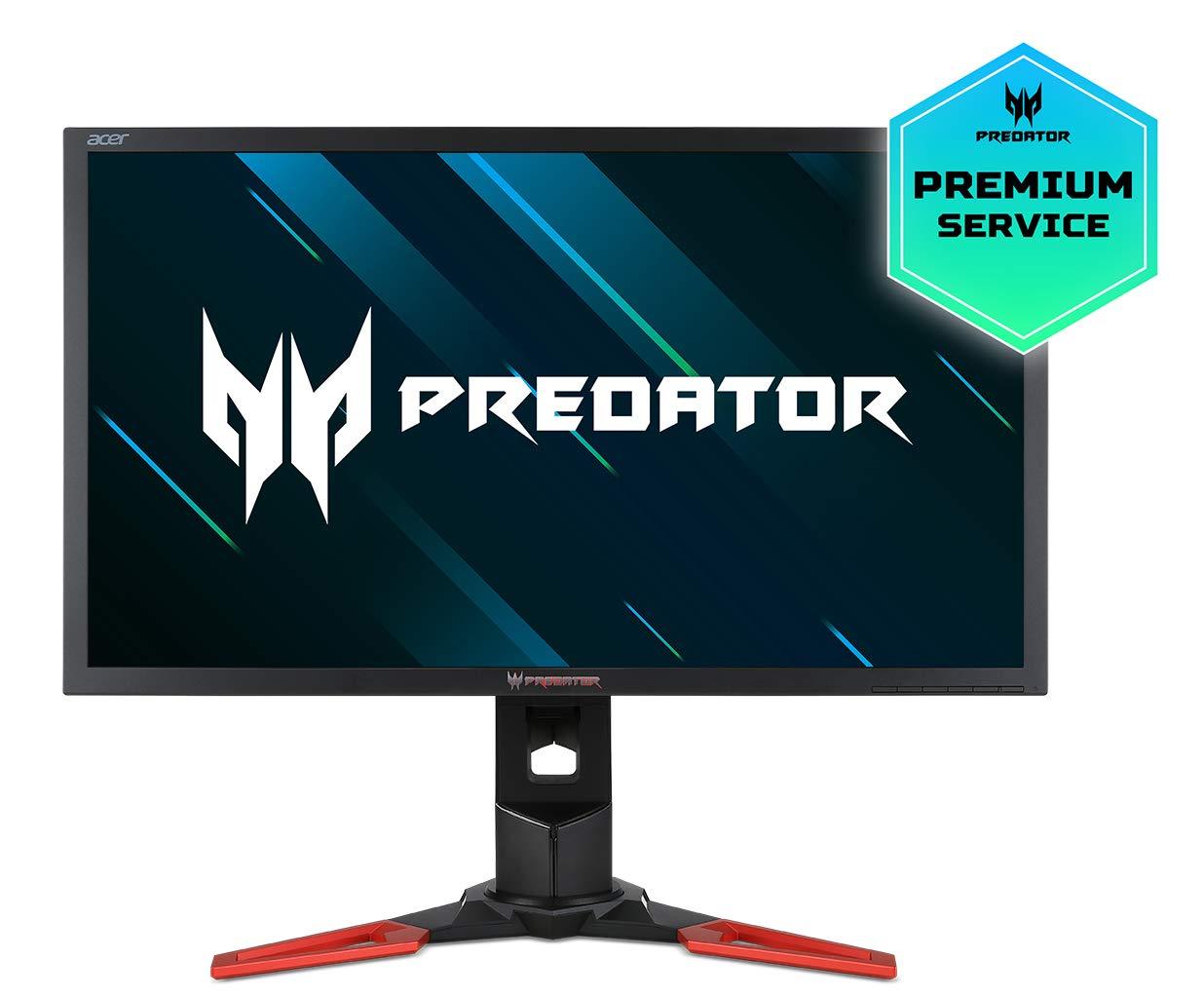 """Acer Predator XB241H Monitor da 24"""", 1920x1080, HDMI, tempo di reazione 1 ms, regolabile in altezza, NVIDIA G-Sync, Nero"""
