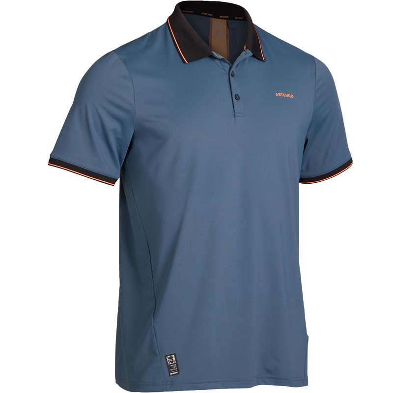Polo tennis uomo DRY 500 grigio-corallo - S , M