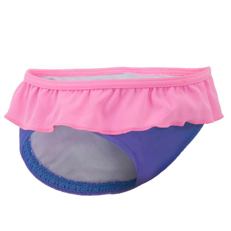 Costume slip baby bambina azzurro-rosa
