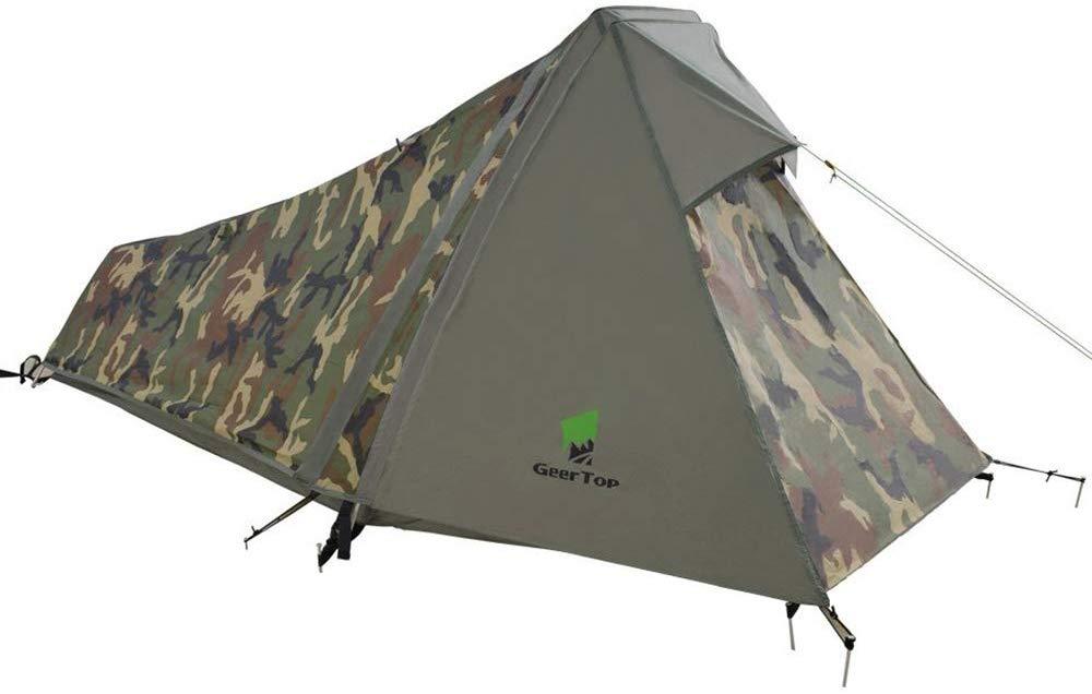 GEERTOP Tenda Impermeabile Ultraleggera 1 Persona Alluminio per Campeggio