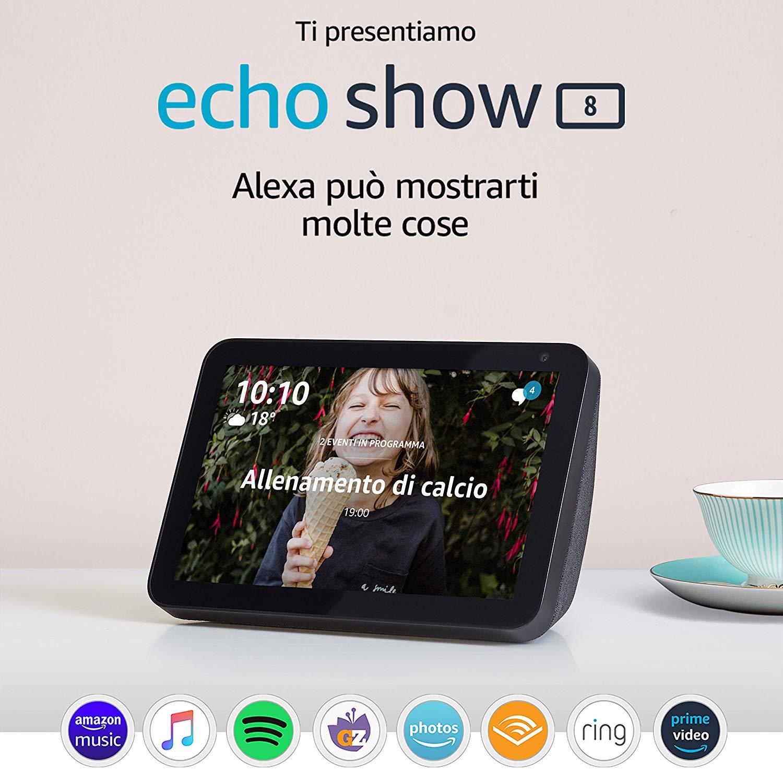 "Echo Show 8 Schermo 8"" - Alexa 79.9€"
