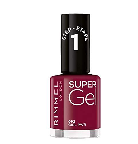 Rimmel London Super Gel French Manicure Smalto Unghie Effetto Nail Polish Gel a Lunga Durata, 12 ml, 092 Girl Pwr