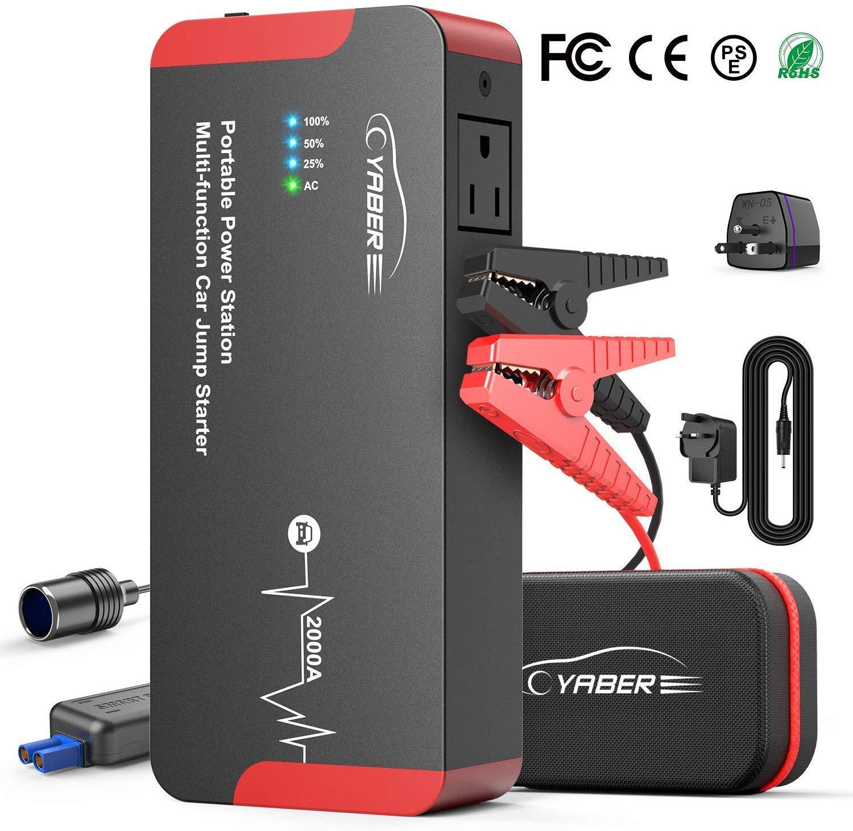 YABER Portatile AC Avviatore Batteria per Moto/Auto
