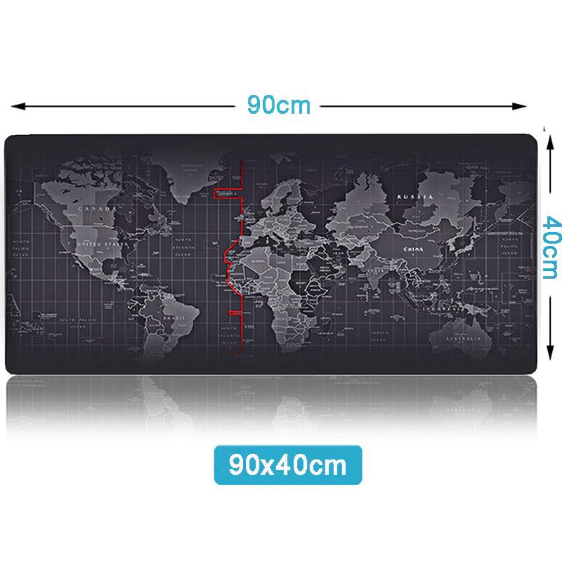 MousePad XXL 90x40 Mappa Del Mondo
