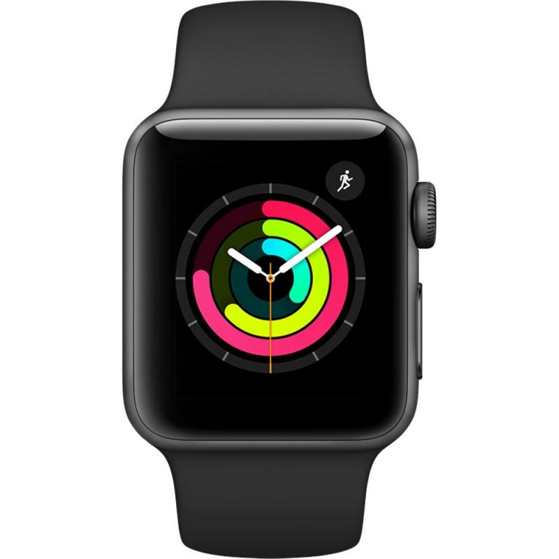 Apple Watch Series 3 - 38mm Cassa Alluminio Grigio Siderale con Cinturino Sport Nero