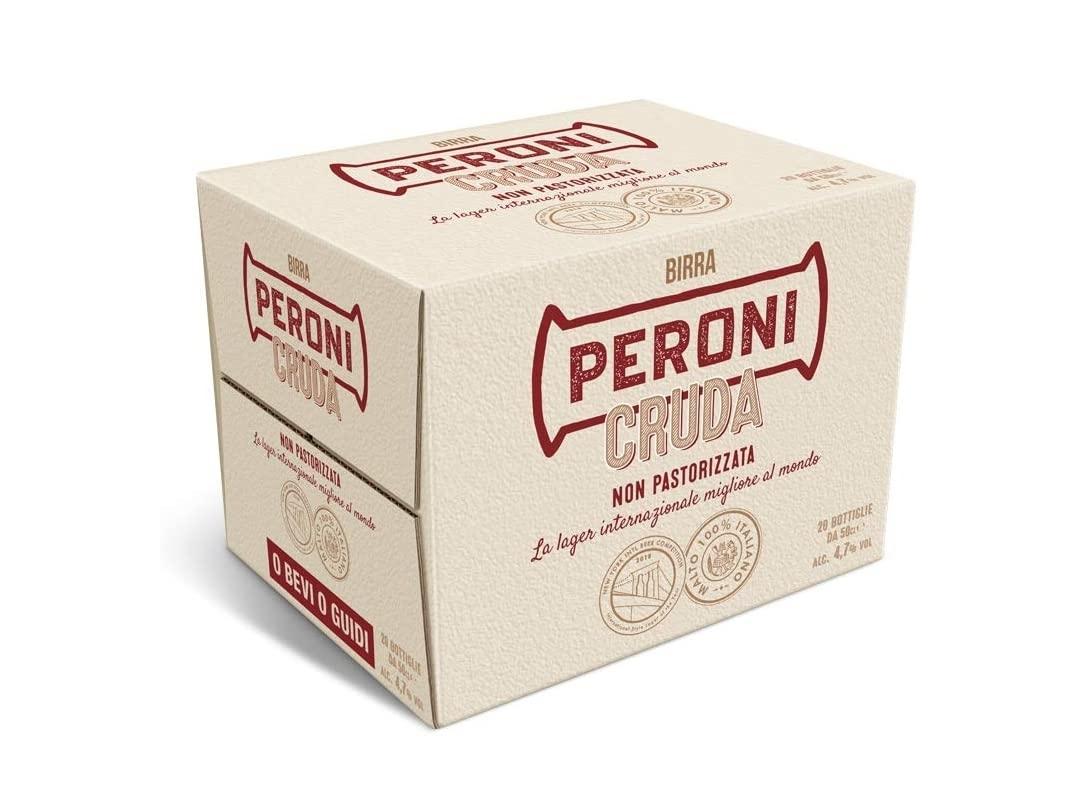 Birra Peroni Cruda - Cassa da 20x 50 cl (10 litri)