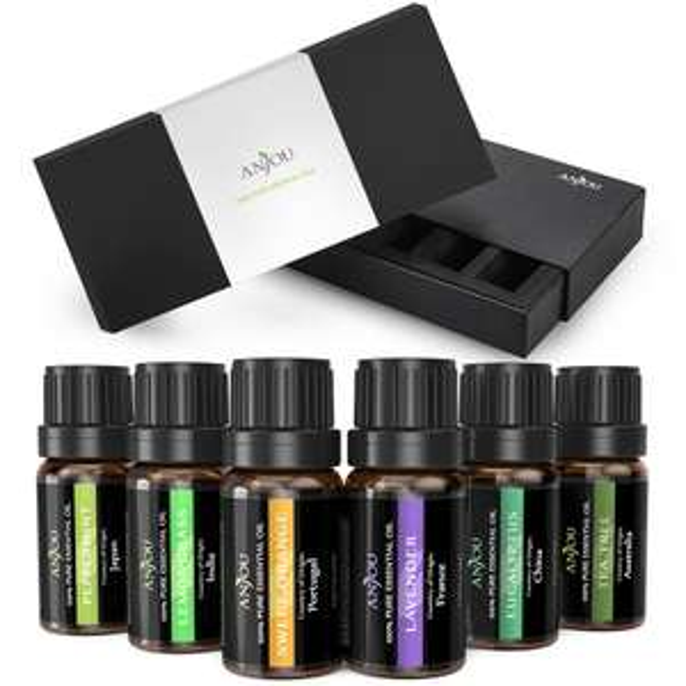 Oli Essenziali Puri Anjou Set di 6 per Aromaterapia 10 ml