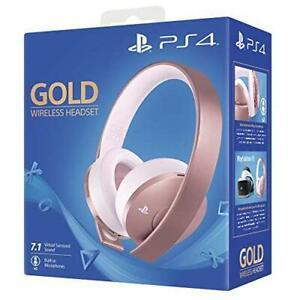 SONY Cuffia Padiglione Auricolare per PS4 Gold Wireless Headset Oro Rosa