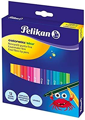 Pennarelli lavabili Colorella Star Astuccio 12 colori