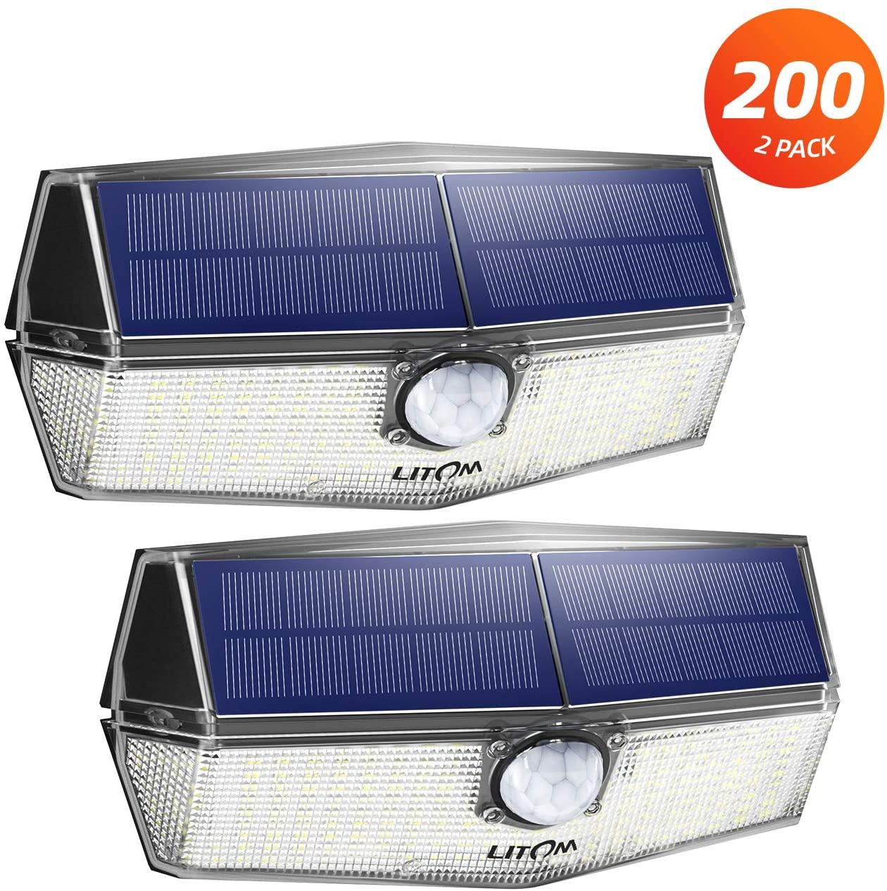 2 Set di Luce con Pannello Solare 200 LED Litom