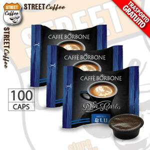 100 Capsule Caffè Borbone Don Carlo Miscela Blu compatibili a Modo Mio