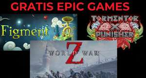 Epic - Games: World War Z, Tormentor x Punisher e Figment GRATIS