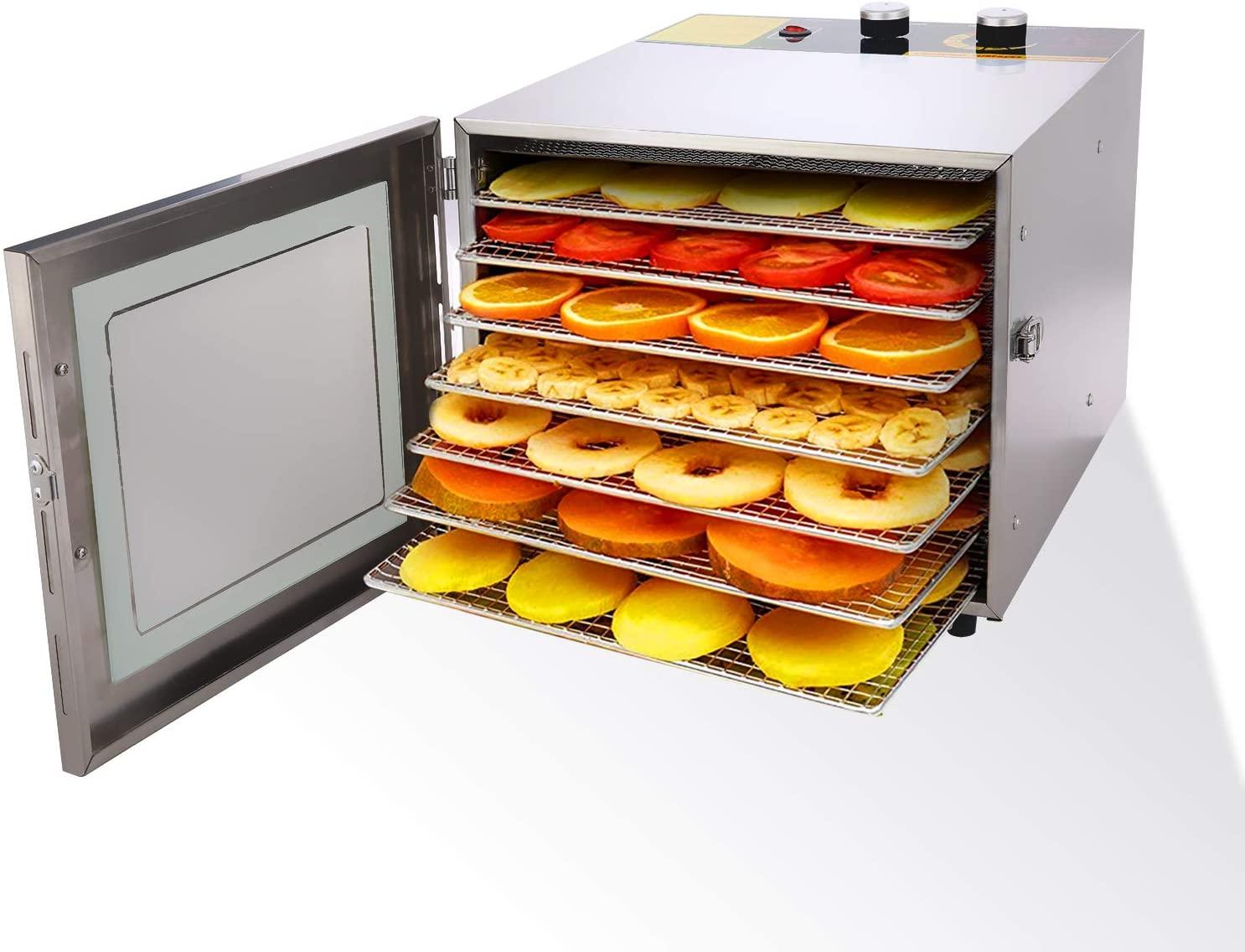 Essiccatore frutta e verdura 600W Acciaio Inossidabile