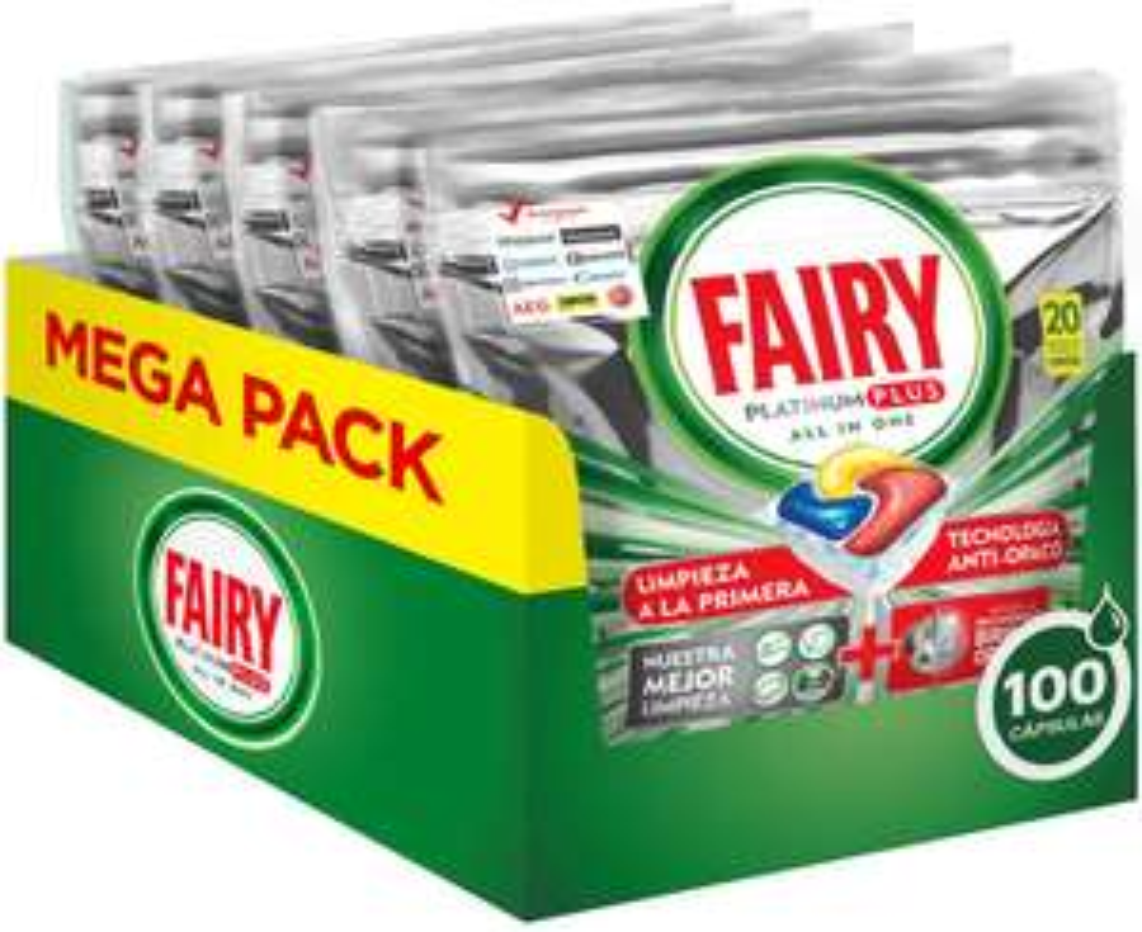 Fairy Platinum Plus Lavastoviglie X100 Pastiglie 16.1€