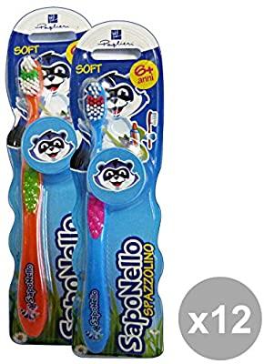 12 Spazzolini da denti Soft per bambini SAPONELLO