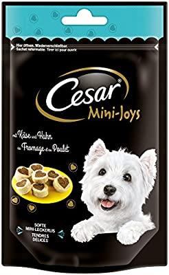 Cesar Cani Snack Joys Mini con Formaggio e Pollo, Confezione da 6(6X 100G)